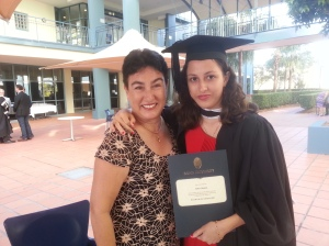 Sasha's graduation day - Batchelor of Journalism