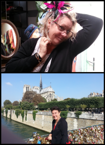 Denise and myself having fun in Paris