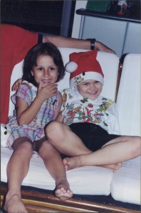 Sasha and Jonathon - many Christmas's ago!