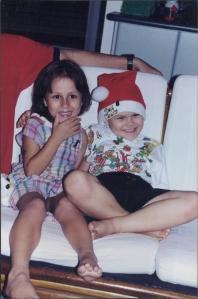 Sasha and Jonathon - many Christmas's ago!