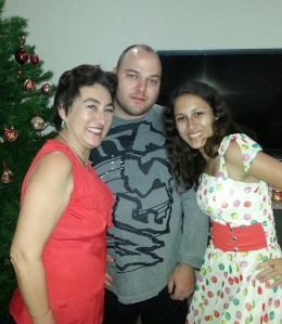 Myself with Wayne and Sasha - my two beautiful adult children