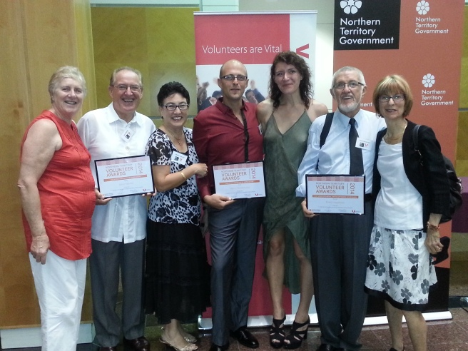 Maureen & Darryl Manzie, Marco Montenuovo, Lara Riva, Peter Hazelman & his lovely wife. Volunteer of th Year Awards 2014